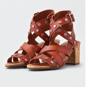 American Eagle Ae Studded Block Heel Sandal